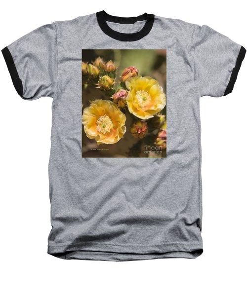 'albispina' Cactus Blooms Baseball T-Shirt