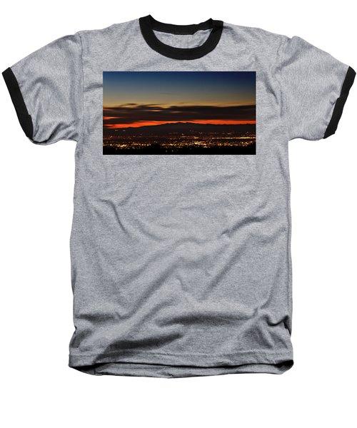 Albuquerque Sunset Baseball T-Shirt by Marlo Horne