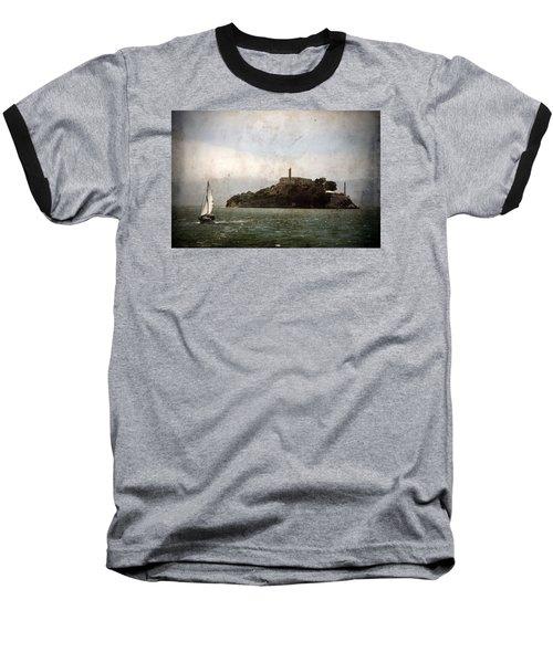 Alcatraz Island Baseball T-Shirt by RicardMN Photography