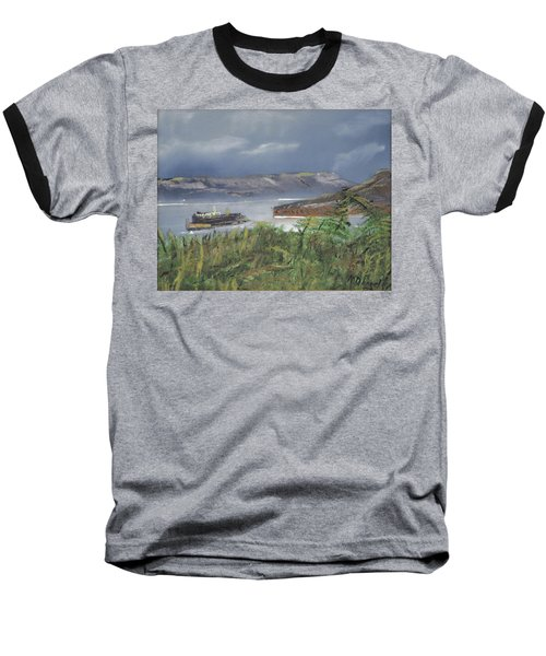 Baseball T-Shirt featuring the painting Alcatraz by Michael Daniels