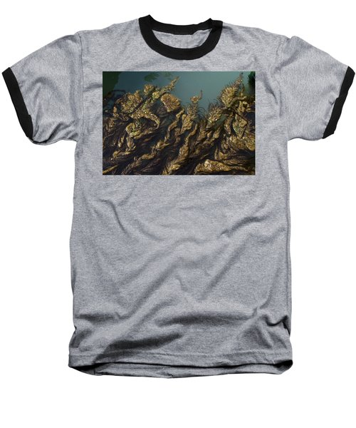 Algae Baseball T-Shirt by Ron Harpham
