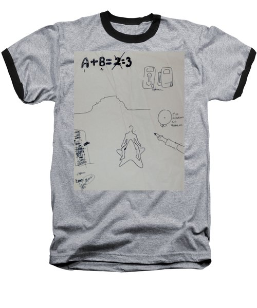 Baseball T-Shirt featuring the drawing Algebra by Erika Chamberlin
