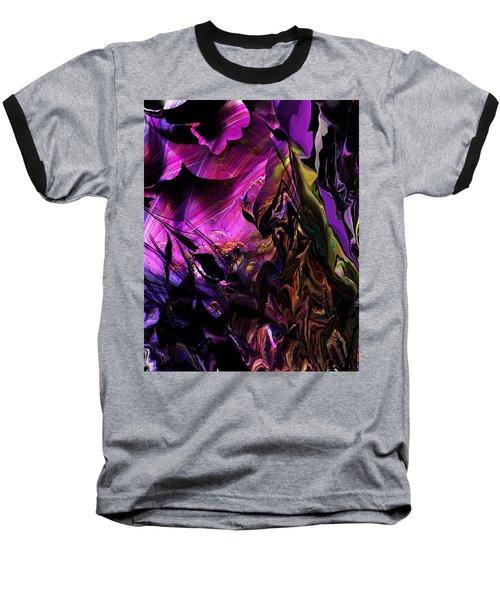 Baseball T-Shirt featuring the digital art Alien Floral Fantasy by David Lane