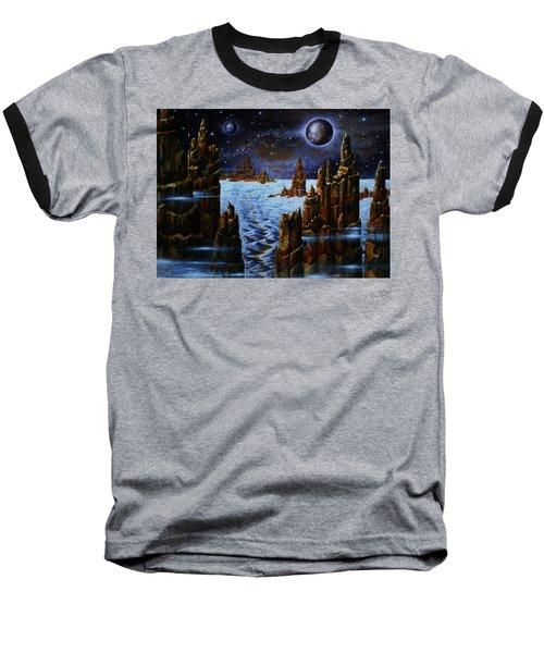 Ice And Snow  Planet  Baseball T-Shirt