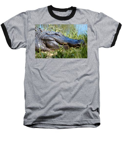 Alligator Smiling Baseball T-Shirt