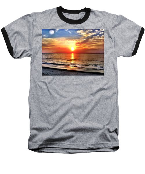 Alignment Baseball T-Shirt by Carlos Avila