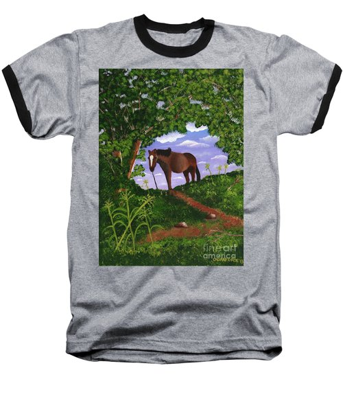 All Alone Baseball T-Shirt by Laura Forde