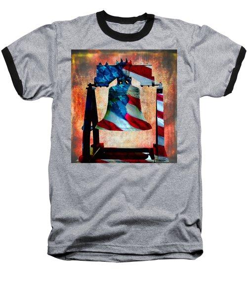 Liberty Bell Art Smooth All American Series Baseball T-Shirt