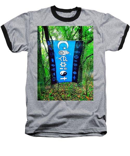 All Are One Baseball T-Shirt by Carlos Avila
