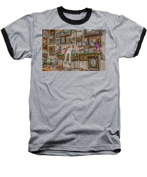 Baseball T-Shirt featuring the photograph All By My Shelf by Ray Congrove