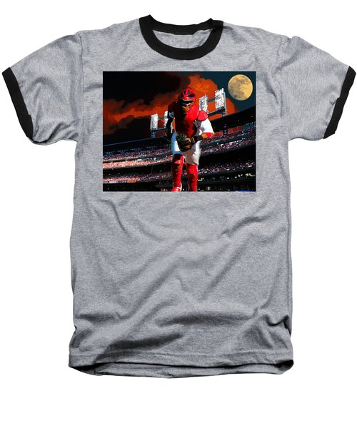 Baseball T-Shirt featuring the photograph All Star Yadier Molina by John Freidenberg