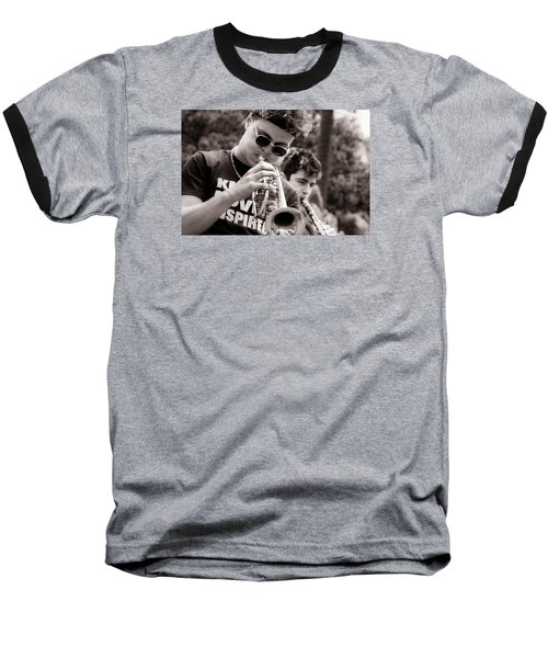 Baseball T-Shirt featuring the photograph All That Jazz by Tim Stanley