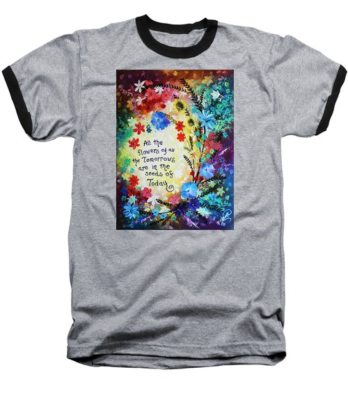 All The Flowers Baseball T-Shirt