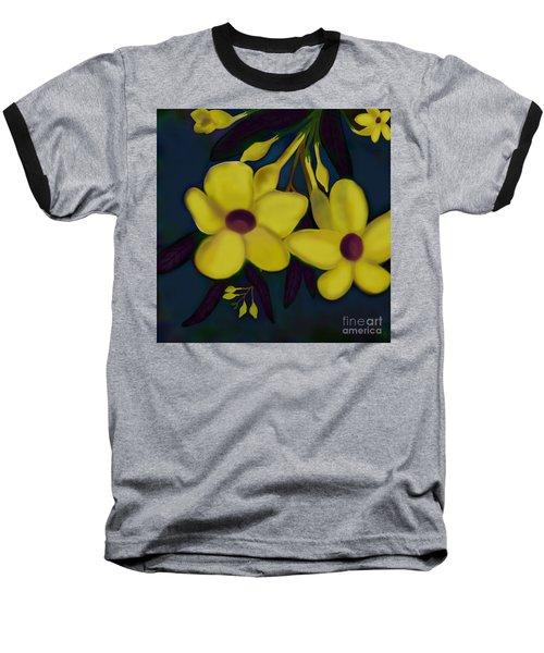 Allamandas At Night Baseball T-Shirt by Latha Gokuldas Panicker