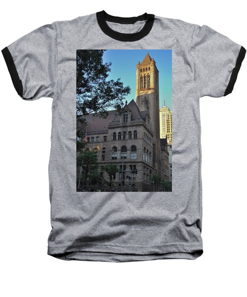 Baseball T-Shirt featuring the photograph Allegheny County Courthouse by Steven Richman