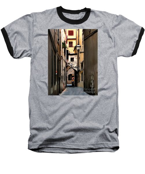 Alley In Florence 1 Baseball T-Shirt by Jennie Breeze