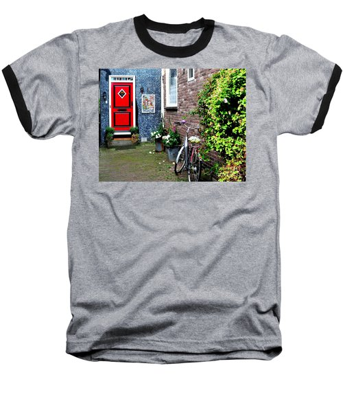 Baseball T-Shirt featuring the photograph Alleyway In Dutch Village by Joe  Ng