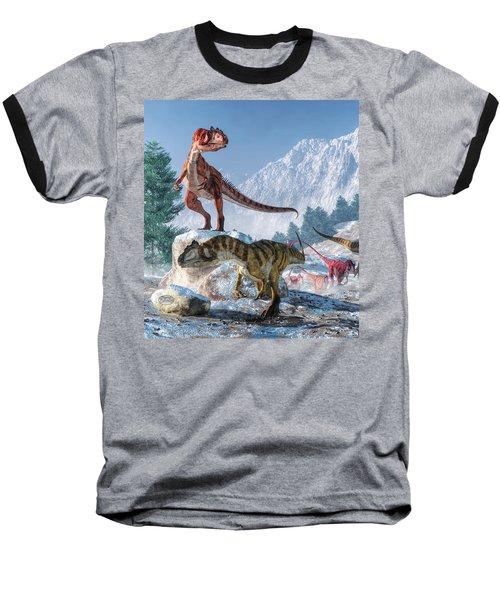 Allosaurus Pack Baseball T-Shirt