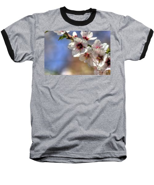 Almond Blossoms Baseball T-Shirt by Jim and Emily Bush