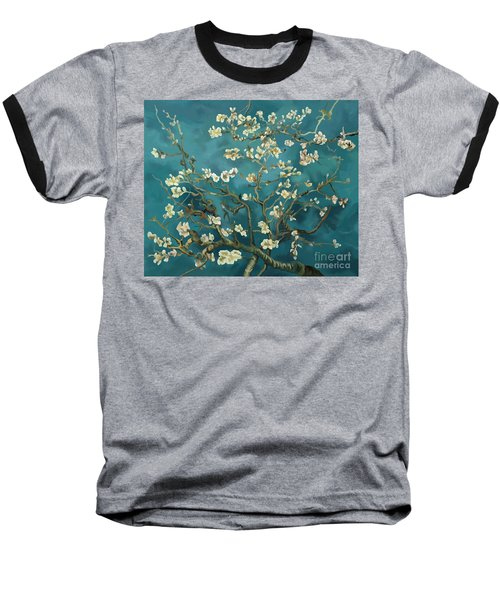 Baseball T-Shirt featuring the painting Almond Blossoms' Reproduction by Tim Gilliland