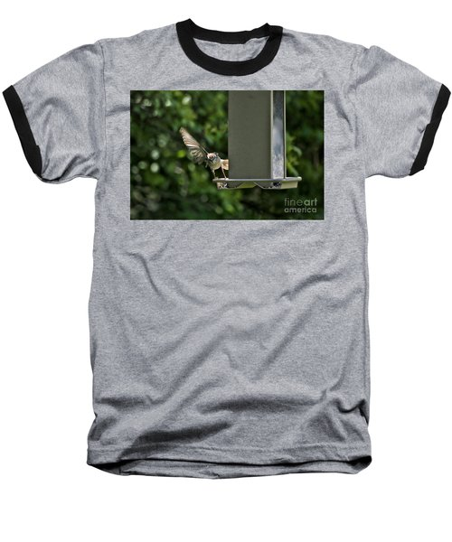 Baseball T-Shirt featuring the photograph Almost A Ruff Bird Landing by Thomas Woolworth