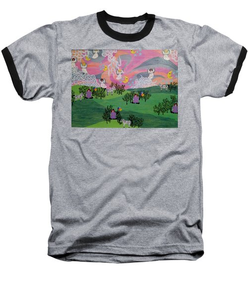 Baseball T-Shirt featuring the painting Almost Heaven by Erika Chamberlin
