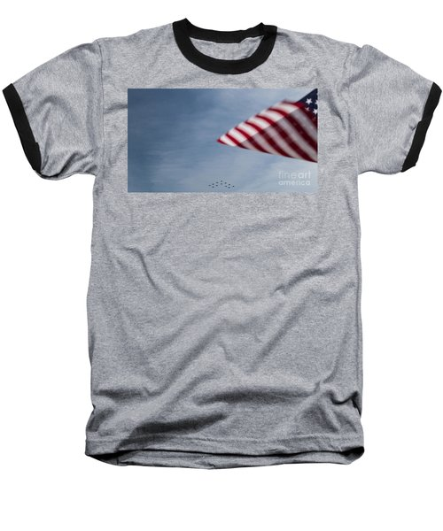 Baseball T-Shirt featuring the photograph Almost Home by Angela DeFrias