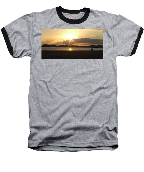 Almost Sundown Baseball T-Shirt by Mark Alan Perry
