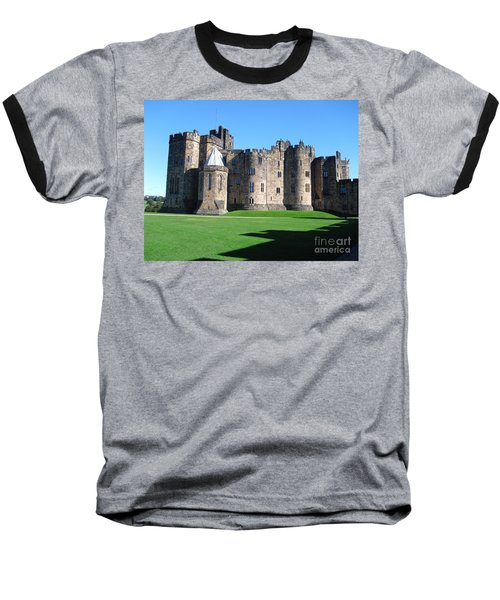 Baseball T-Shirt featuring the photograph Alnwick Castle Castle Alnwick Northumberland by Paul Fearn