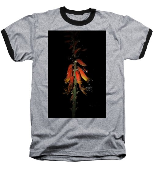 Baseball T-Shirt featuring the photograph Aloe Flower by Leticia Latocki