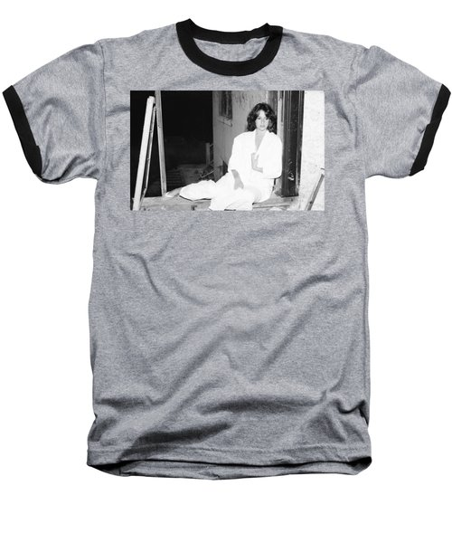 Baseball T-Shirt featuring the photograph Alone And Peaceful by Steven Macanka