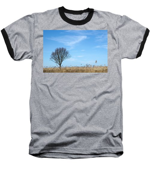 Alone Tree In The Reeds Baseball T-Shirt
