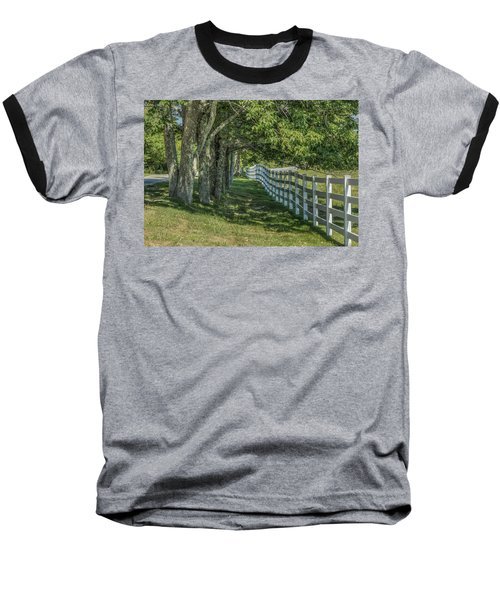 Baseball T-Shirt featuring the photograph Along A Country Road by Jane Luxton