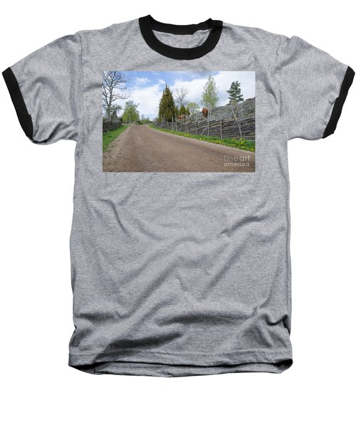 Along An Old Fashioned Road Baseball T-Shirt