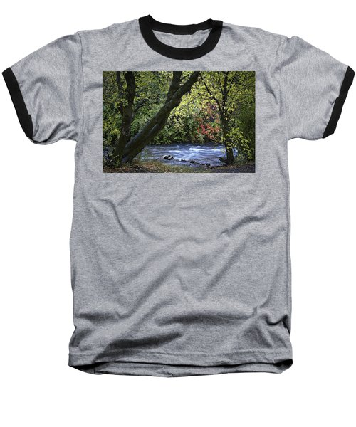 Baseball T-Shirt featuring the photograph Along Swift Waters by Priscilla Burgers
