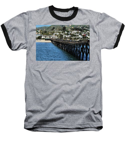 Baseball T-Shirt featuring the photograph Along The Pier by Michael Gordon