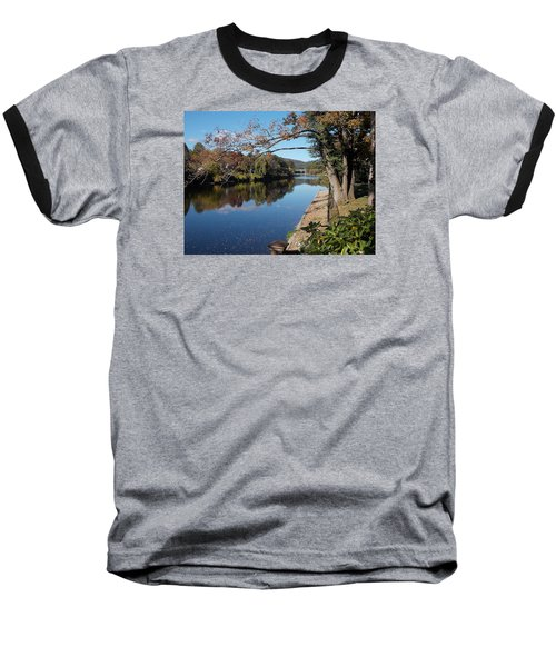 Along The River In Shelbourne Falls Baseball T-Shirt