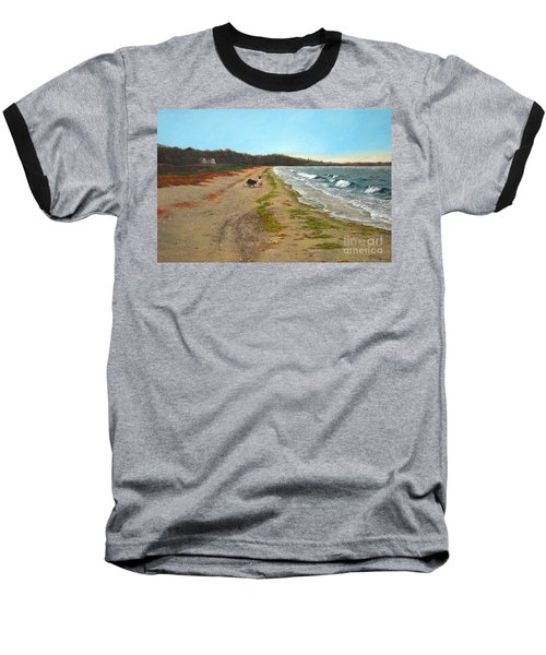 Along The Shore In Hyde Hole Beach Rhode Island Baseball T-Shirt