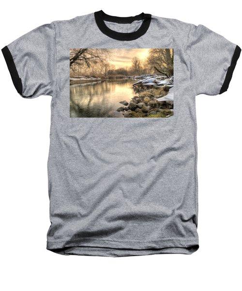 Along The Thames River  Baseball T-Shirt