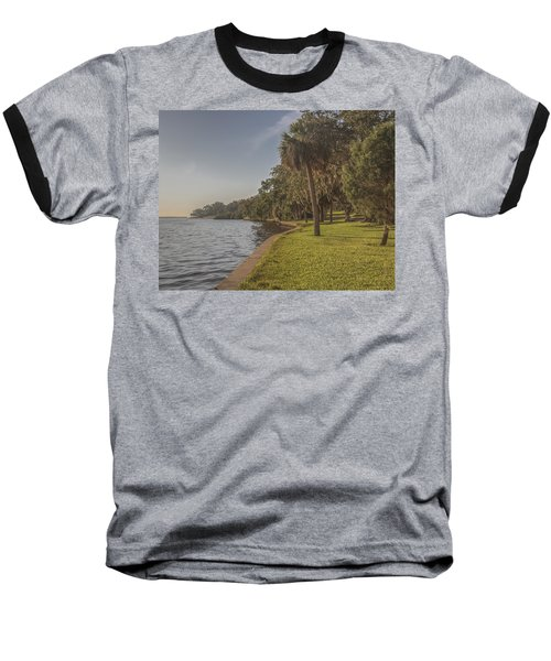 Baseball T-Shirt featuring the photograph Along The Wall by Jane Luxton