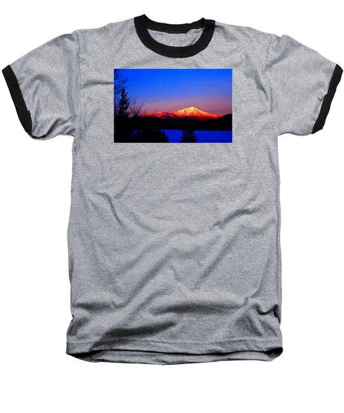 Alpenglow-whiteface Mt. Baseball T-Shirt