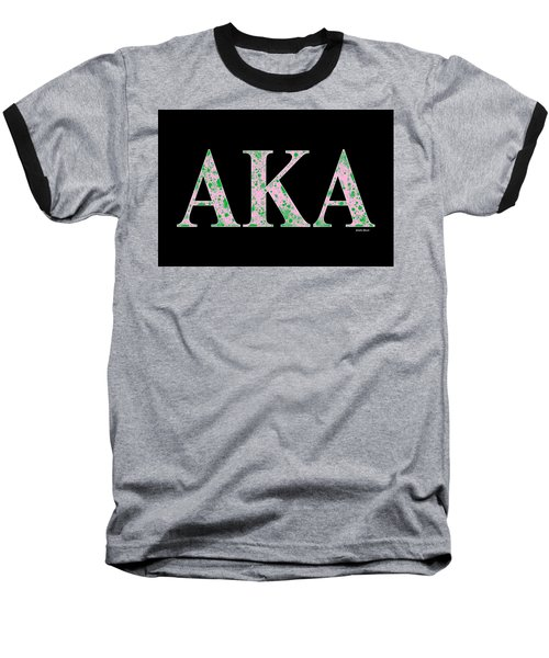Alpha Kappa Alpha - Black Baseball T-Shirt