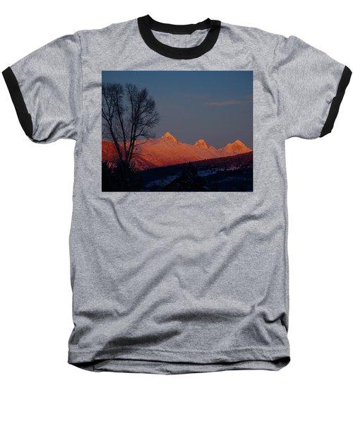 Baseball T-Shirt featuring the photograph Alpenglow by Raymond Salani III