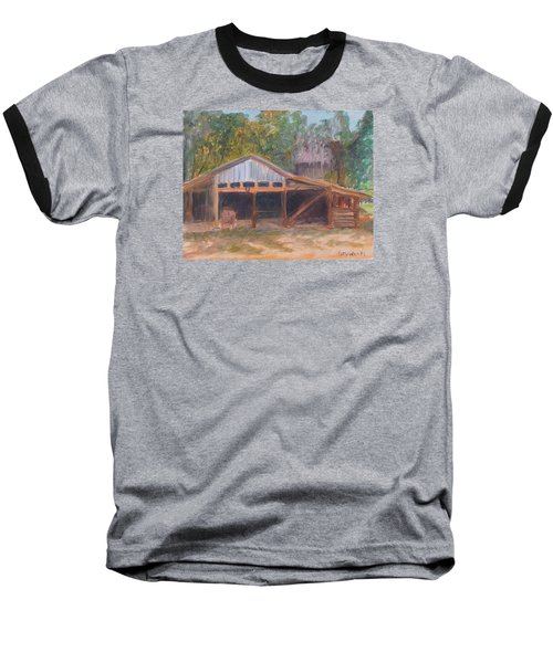 Alpine Groves Fruit Packing Shed Baseball T-Shirt