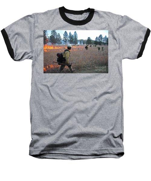 Alpine Hotshots Ignite Norbeck Prescribed Fire Baseball T-Shirt