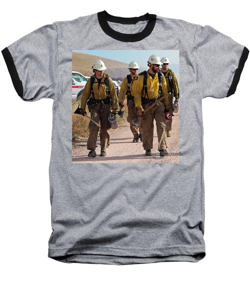Alpine Hotshots Prepare To Ignite Cold Brook Prescribed Fire Baseball T-Shirt