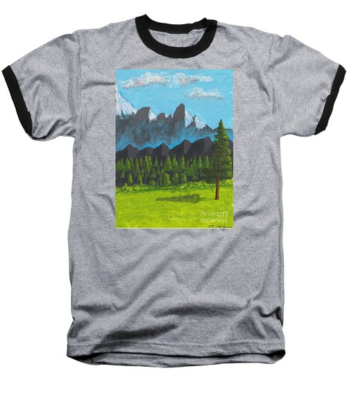 Baseball T-Shirt featuring the painting Alpine Meadow by David Jackson