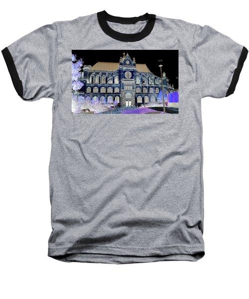 Altered Image Of Saint Eustache In Paris France Baseball T-Shirt by Richard Rosenshein