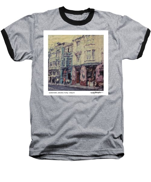 Altered Polaroid - Kybele Hotel 1 Baseball T-Shirt by Wally Hampton
