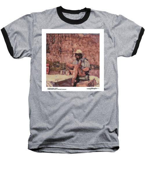 Altered Polaroid - Raft Master Matt Baseball T-Shirt by Wally Hampton